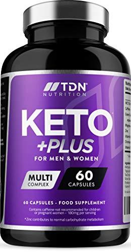 Keto Gélules pour Perte de Poids Rapide et Efficace - 1 Mois d'Approvisionnement - Brûleur de Graisse avec Huile MCT & Thé Vert Plus Vitamines et Minéraux - Fabriqué au Royaume-Uni - Sûre et Légale