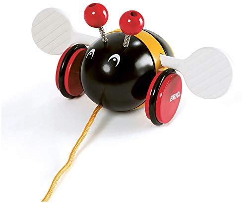 BRIO ( ブリオ ) プルトイ バンブルビー 対象年齢 1歳~ ( 引き車 引っ張るおもちゃ 木製 知育玩具 ) 30165