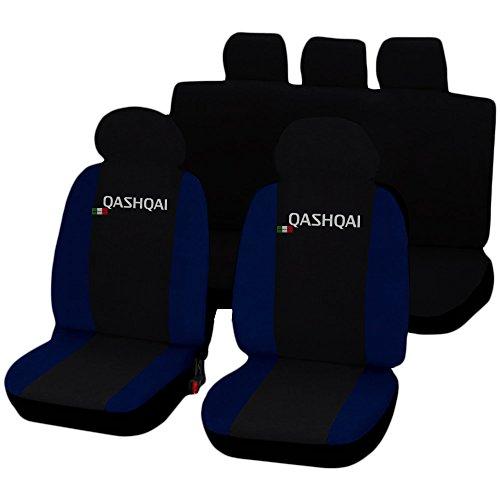 Lupex Shop Qashqai_N.Bs Qashqai zweifarbige Sitzbezüge - schwarz dunkelblau