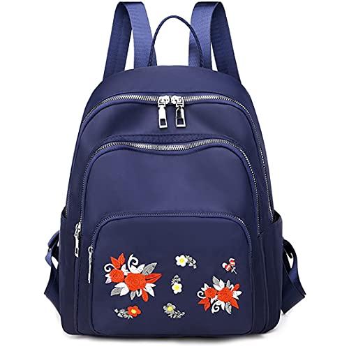 DENGZH Sac à Dos décontracté pour la Jeunesse Classique pour Fille Daypack Sac à Dos Sac à Dos Designer Casual pour Femmes Cadeau du Sac à Dos Quotidien (Color : Blue, Size : One Size)