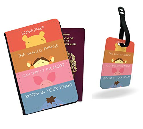 Winnie The Pooh - Sometimes The Smallest Things can take up The Most Room in Your Heart Passport Cover and Luggage Tag