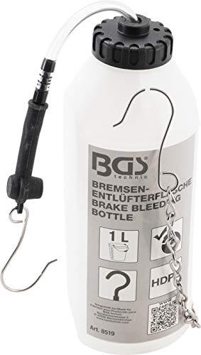 BGS 8519 | Bremsenentlüfterflasche | 1 l | Bremsflüssigkeits-Auffangflasche | Bremsflüssigkeit | Bremsenentlüfter