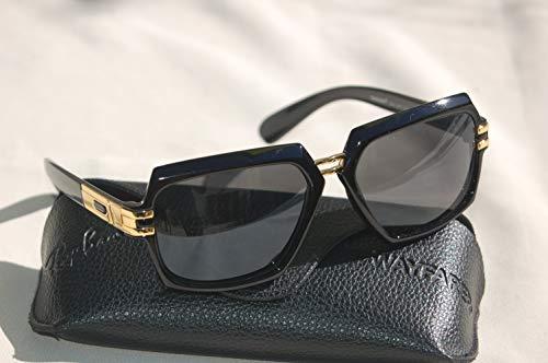 Zonnebril stijl Cazal 1 Evidence Gold Black & Case + reinigingsdoek