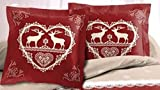Set di 2federe di cuscini 65X 65cm Chalet Winter rosso Set di 2federe 65x 65cm Chalet Winter rosso 100% cotone. I disegni montagne sono ideali per creare un' atmosfera Chalet Savoyard alla vostra stanza. Set di 2federe di cuscini 65X 65cm Ch...