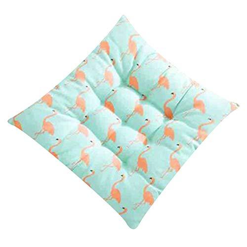 Monbedos Zitkussen voor buiten, zitkussen 40 x 40, zitkussen voor binnen, mat voor stoel, geschikt voor huis, tuin, camping B