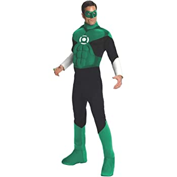 Desconocido Disfraz de Linterna Verde para hombre: Amazon.es ...
