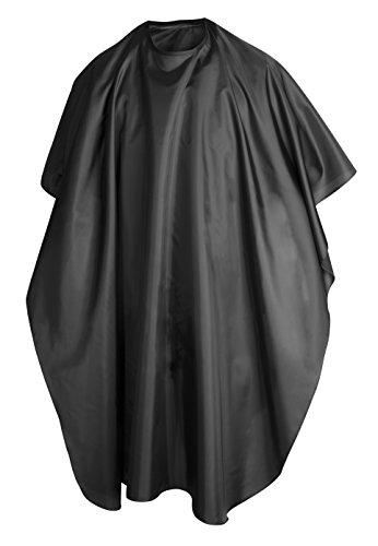 TRIXES Friseurumhang Schwarz Ganzkörperansicht Cape Unisex Professionelle Friseure Kleid für Hair Styling Schnitte und Farben, Friseur Umhänge