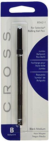 Kreuz schwarz Jumbo Kugelschreiber Mine für Selectip Stifte Medium Point 6Refills