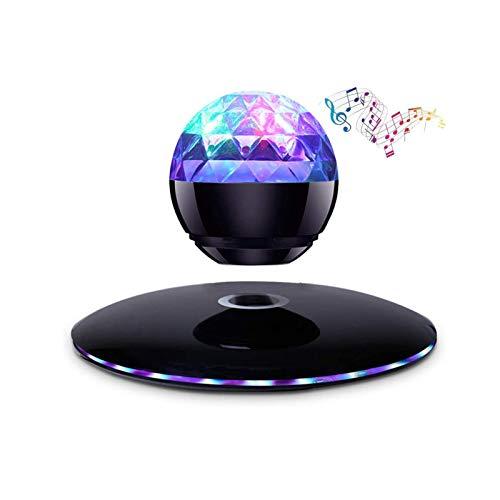 FGVDJ Schwebende Lautsprecher, schwimmend Bluetooth Lautsprecher-Licht, beweglicher drahtlosen Lautsprecher, 360 ° Rotation, Nachtlicht, Kunstwerk, für Inneneinrichtungen, Büro-Schreibtisch, Geschenk