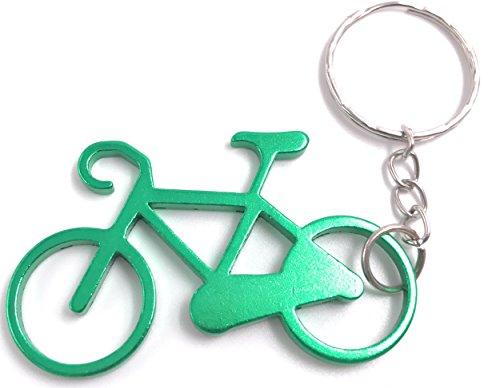H-Customs Fahrrad aus Metall grün Anhänger Schlüsselanhänger