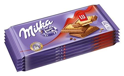 Milka Alpenmilch Schokolade & LU Kekse - Zartschmelzende Schokoladentafel mit Keksen - 20 x 87g