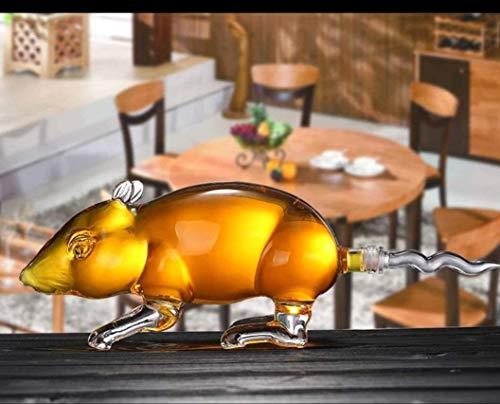 WJJ Botella de Whisky Cristal 12 Decantador De Cristal del Zodiaco Chino, Decantador De Vidrio De Whisky, Animal Soplado A Mano 12 Botella del Zodiaco Chino, 500 / 1000ml Decantadores de Vino