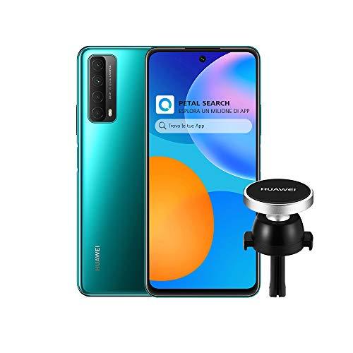 HUAWEI P Smart 2021 Smartphone e AF13 Supporto Magnetico, SuperCharge da 22.5 W, Batteria da 5000 mAh, Quattro Fotocamere 48 MP, Display FHD+ da 6.67 Pollici, 4 GB di RAM, 128 GB di ROM, Crush Green