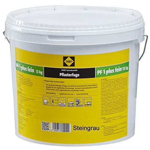Sakret Pflasterfugenmörtel PF1 Plus FEIN 10kg Kunstharzmörtel 1K (Steingrau)
