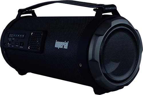 IMPERIAL BEATSMAN 3 - mobiler Bluetooth Lautsprecher mit Radio (Bluetooth 4.2, UKW, MicroSD Kartenleser, USB Anschluss, AUX Eingang) schwarz