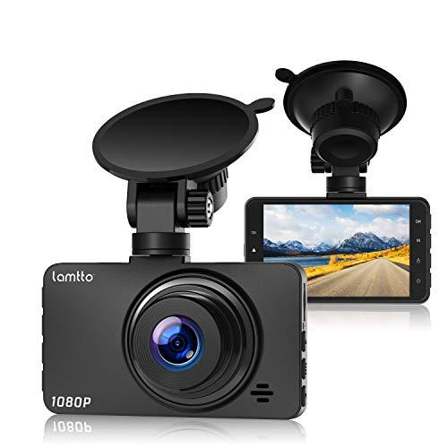 """Lamtto Cámara de Coche 1080P Full HD Dash CAM 3.0"""" LCD Conducir Grabadora 170°ángulo con WDR, G-Sensor, Detección de Movimiento, Grabación en Bucle, Monitor de Aparcamiento"""