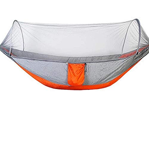 HUANXI MultifunctionDoubleSpace Hammock Swing with Storage Bag + Strap,300kg Load Capacity (290x140cm) Gray Camping Beds For Adults for Camping, Backpacking, Survival, Travel & More