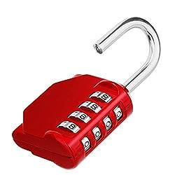 6 Multi-colored Combination Padlock Luggage Lock Code Lock 3 Digit Resettable Lock Zinc Alloy Security Padlock Weatherproof Combination Lock for School Locker Gym Outdoor Shed Locker Hasp Cabinet Gate