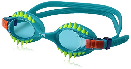 TYR Kids Swimple Spikes Googles, Spikes/Blue/Turquoise, One Size