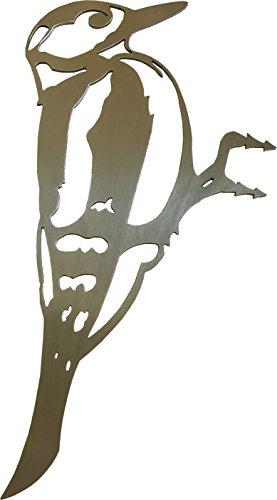 Vogel Buntspecht (Edelstahldeko) (Edelstahl)
