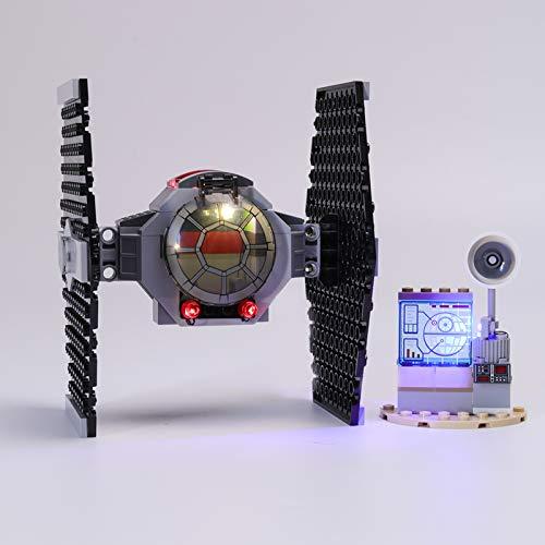 HLEZ USB Juego de Luces de para Ataque de Caza Tie Modelo de Bloques de Construcción, Conjunto de Luces Lluminación Compatible con Lego 75237 (Modelo Lego no Incluido)