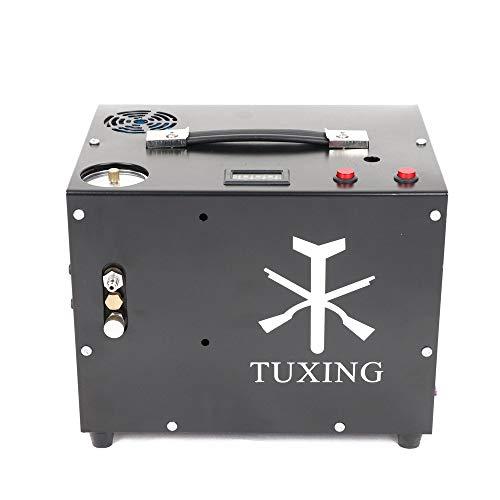 TXET062-2 12V Portable Compressor Pcp Air Compressor Converter Inlet/Set Pressure for PCP Air Gun Rilfle Paintball (Adjustable Pressure Version)