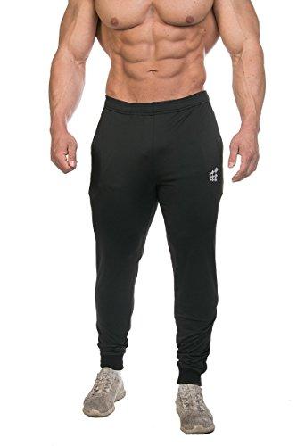 Jed North Herren-Jogginghose mit Taschen -  Schwarz -  Mittel