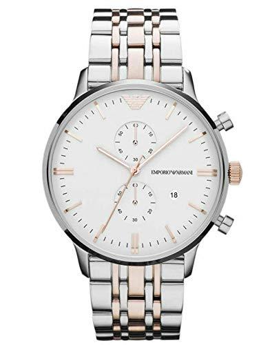 Unieke Stuff Shop Nieuwe Emporio Armani Classic AR0399 Heren Horloge - Twee Toon met Doos