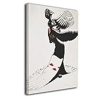 Skydoor J パネル ポスターフレーム 鶴女 インテリア アートフレーム 額 モダン 壁掛けポスタ アート 壁アート 壁掛け絵画 装飾画 かべ飾り 30×20