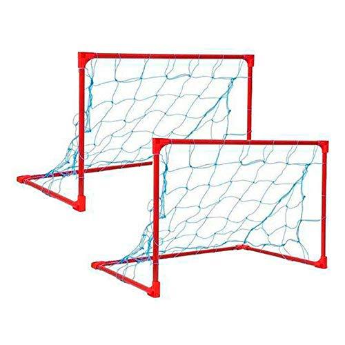 Kit Mini Gol 2 Traves com Redes e Cantoneiras, Med 0,50x0,80m, Master Rede