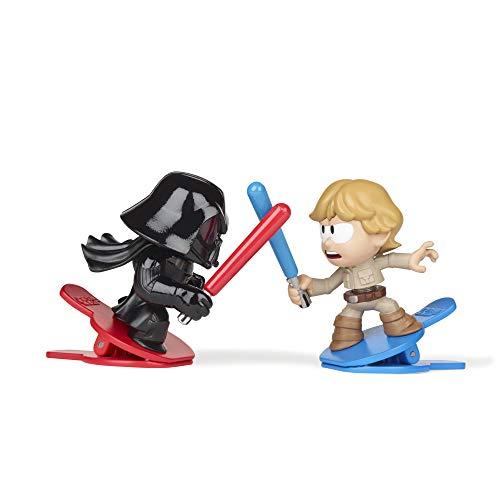 Star Wars Battle Bobblers Darth Vader vs Luke Skywalker Figura de acción de Batalla Recortable Paquete de 2, Juguetes para niños a Partir de 4 años (Hasbro E8030)