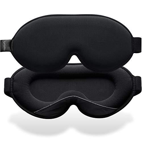Unimi 2020 Neu Schlafmaske für Frauen und Männer, 3D Schlafmaske aus Gedächtnisschaum & Seiden, 3D konturierte Augenmaske, blockiert jedes Licht zu100{2644dcf1ebe56e15d12b15b165d65bebd938b56ce6fda335ea55ff48c9ec11fa}, Schlafmaske für Reisen, Nickerchen, Yoga