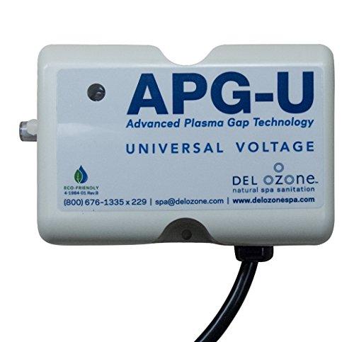 QCA Spas Del Ozone APG-U-01 Ozonator Hot Tub Ozone Generator, 8 by 8-Inch, Cream