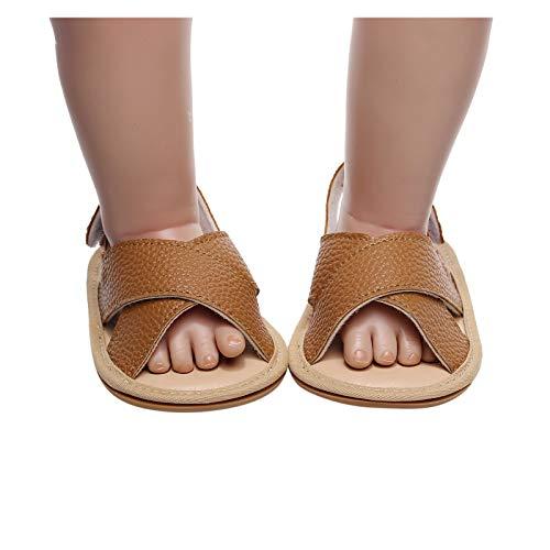 Berimaterry Sandalias de bebé niño niña Zapatos Unisex PU Casuales Oxford con Cordones Fondo Suave Antideslizante Primeros...