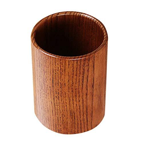 Houten keukengerei houder, aanrechtblad kookgerei beker, ronde houten bestek Caddy, 3 maten om uit te kiezen - M