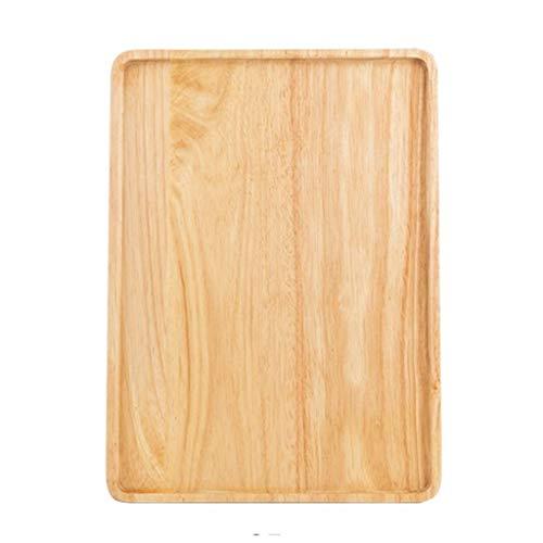 Houten Bakken Rechthoekige Tray Broodplank Pizza Board Serveerschalen Met Grooves For West-Voedsel Snack Dessert (Size : 35 * 25 * 1.8cm)