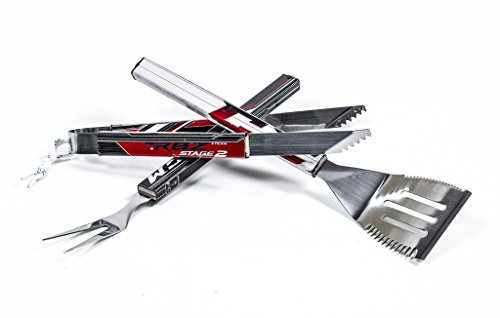 Requip'd 3 Piece Stainless Steel Hockey BBQ Set