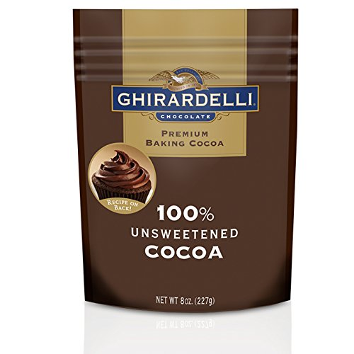 Ghirardelli Chocolate Unsweetened Cocoa Pouch, 8 Ounce