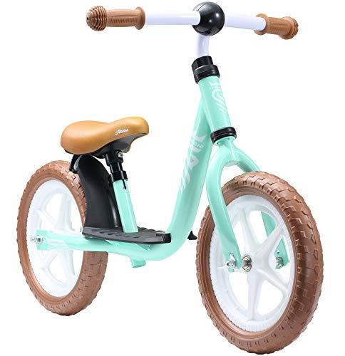 LÖWENRAD Kinderlaufrad ab 3, 4 Jahre, 12 Zoll Jungen und Mädchen Laufrad, leichtes Kinderrad Lauflernrad höhenverstellbar, Mint | Risikofrei Testen