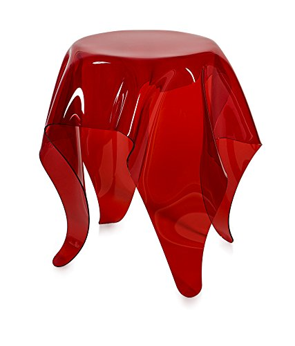 Iplex Design Drappeggd'Autore bijzettafel van transparant plexiglas, rood