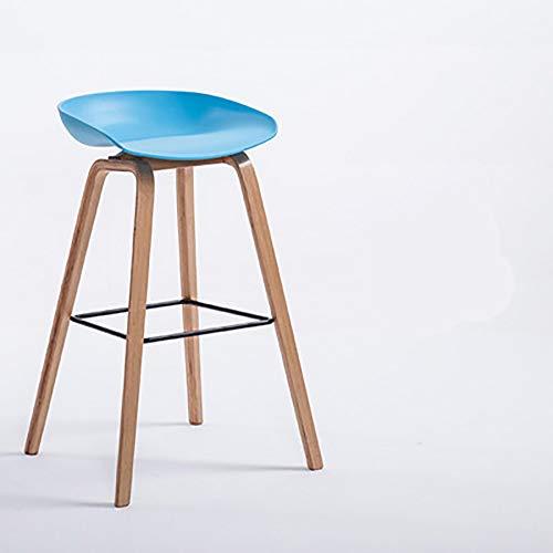 LRQHHZYQ Barkrukken, Beukenhouten poten ABS Oppervlak, Zithoogte 85cm, Keuken Counter Bar Ontbijtstoelen, Natuurlijk hout