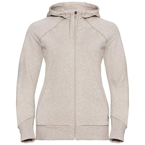 Odlo Damen Hoody Midlayer Full Zip Alma Natural Jacke, Silberne Wolkenmelange, M