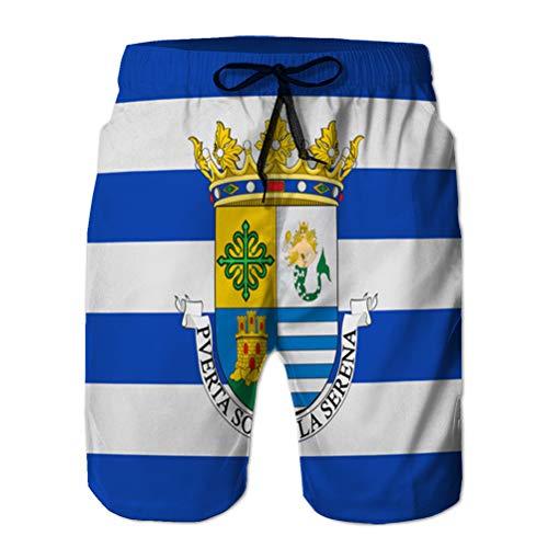 Vacaciones de Verano Pantalones de Playa para Hombre Shorts Bañadores Bandera de...