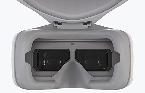 DJI Goggles - VR Brille inkl. 2 Bildschrime (mit einer HD-Auflösung von 1920 x 1080 MP, Drohnenbewegung per Kopfsteuerung) weiß