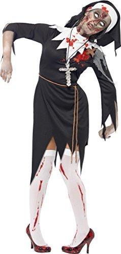 Zombie Donna Suora suora Costume Halloween Taglia Large 16-18