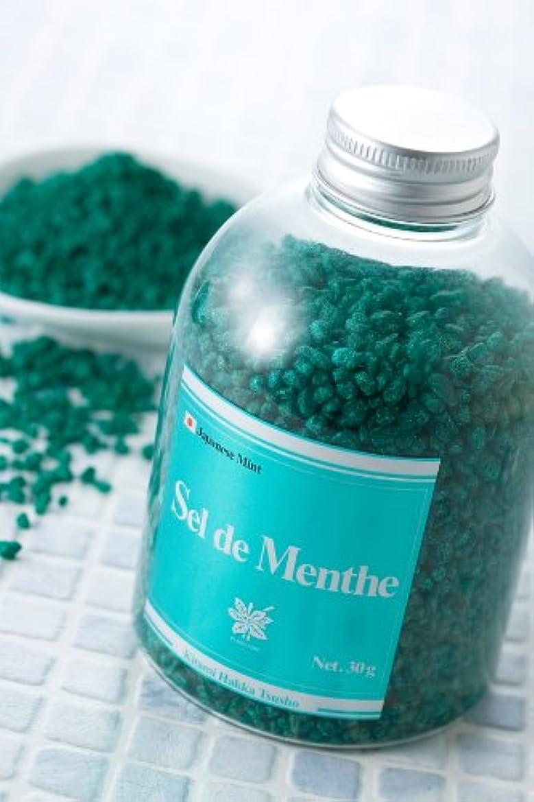 ドット吸うパーティション北見ハッカ通商 入浴剤Sel de Menthe(セル?デ?メンタ)徳用ボトル450g