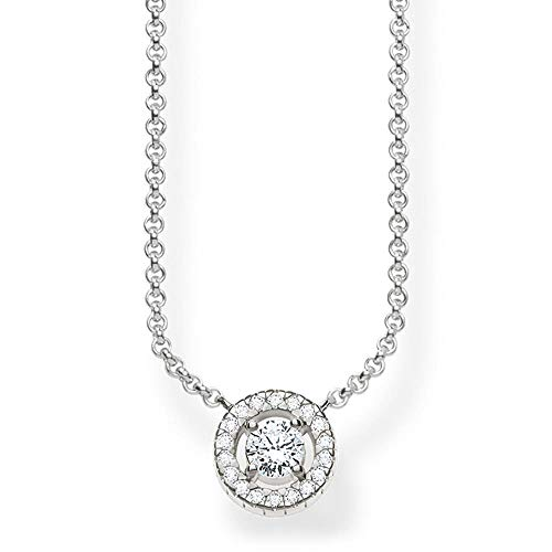 Thomas Sabo Damen-Collier Glam & Soul 925 Sterling Silber Zirkonia weiß Länge von 40 bis 45 cm KE1494-051-14-L45v