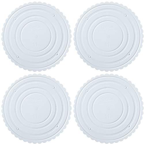 Wilton Decorator Preferred - Placa separadora redonda para tartas, 28,9 cm (paquete de 4)