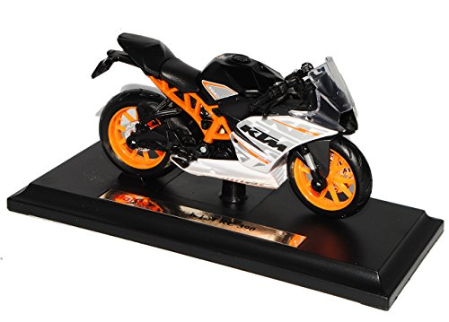 Maisto K-T-M RC390 Schwarz Weiss 1/18 Modell Motorrad