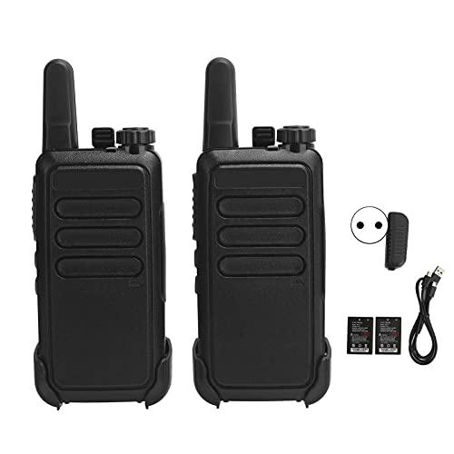 Mxzzand Walky Talky portátil, walkie talkies de Carcasa ABS, comunicación a Largo Plazo Ligero para Seguridad para Guardias(European regulations)